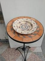 Antik 100éves kínáló Zsolnay meseri kézifestett tányér mély kínálónak kívàló! Mindig Luxus!