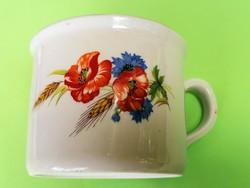 Zsolnay nagy pipacsos csésze