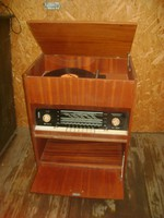 RESPROM zeneszekrény, komód - rádió, lemezjátszó - 1960-as évek