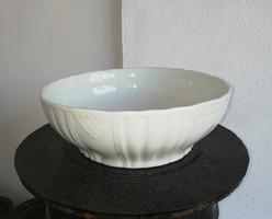 Zsolnay  fehér porcelán pogácsás tál, paraszttál, nosztalgia darab