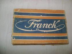 """""""FRANCK Henrik fiai"""" kávés doboz """"cikóriából készült valódi Franck kávé-pótlék"""""""
