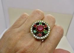 Szépséges nagy kézműves régi gyűrű