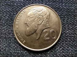 Ciprus Zeno 20 Cent 1991 / id 22396/