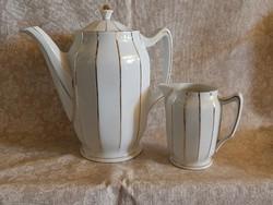 Leuchtenburg art deco tea és tejkiöntő kiöntő 1909-1935