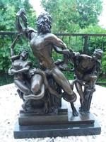 Mitológia bronz szobor//  Poszeidón//  Laokoón-csoport