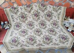 Retro  Gyönyörű virágos, szövött ágytakaró, takaró, terítő, asztalterítő,  nosztalgia darab