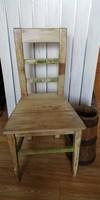 Vintage támlás szék, kopottas régi szék, dekoráció