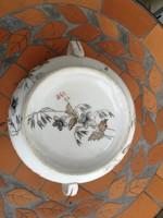 Komabögre két fülű!! Vastag!!! Pocelàn, ételes, bögre, leveses sorozat! Sorszámozott, virágokkal!