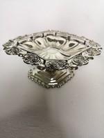 Antik biedermeier ezüst bécs talpas kínáló 341gr
