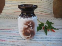 Kerámia  , cserép  váza  9 x 15     cm
