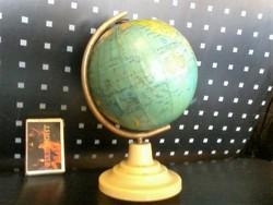 Mini 16cm!!!  retro 1950/60k.  román földgömb-kézi cikkelyes!!! OLCSÓN!