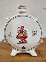 Magyar pálinkás porcelán kulacs