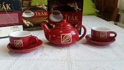 Kerámia teás készlet, díszdobozban, TEA könyvvel  eladó!