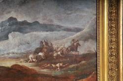 Antonio Calza (Verona, 1653 - 1725): 17. századi csatajelenet