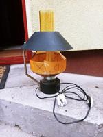 Retro fém-üveg asztali lámpa