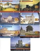 7 db telefonkártya - 5 db Magyar várak, kastélyok és 2 db Magyarország nevezetességei