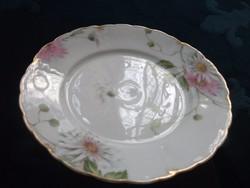 Antik Rosenthal IRIS mintás tányér a kereskedő F.A Schumann-Hoflieferant-Berlin- jelzésével