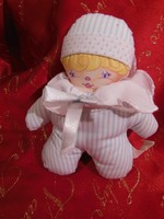 Játék - puha textil Baba - 15 x 13 cm - szép állapot