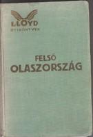 FELSŐ OLASZORSZÁG LLOYD UTIKÖNYVEK 1929