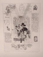 Reich Károly - A windsori víg nők 5. (38x29 cm) rézkarc