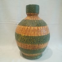 Jelzett retro iparművész kerámia váza 30 cm