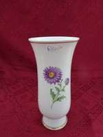 Antik meisseni porcelán váza virágmotívummal, magassága 20 cm.