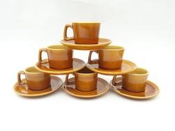 Gránit Kispest retro porcelán kávéskészlet, mokkás, eszpresszós csészék - 6 személyes készlet