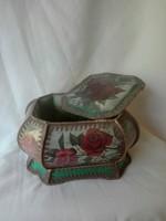 Antik párnázott dobozka/ékszeres/bonbonier