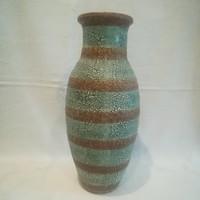 Jelzett retro iparművész kerámia váza 33 cm