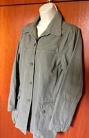 Hennes Collection lazán elegáns halvány katona zöld, új nem használt vászon kabát.