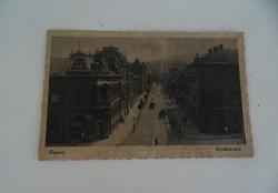 Helytörténeti ritkaság SOPRON 1943. Erzsébet-utca képeslap levelezőlap