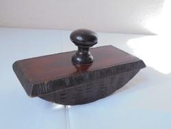 Antik, régi fa kézi asztali itatós