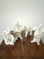 """Royal  Dux  jelzésű porcelán figurák """" Elefánt zenekar"""". Kézzel festet. L-17"""