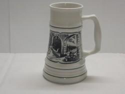 Retro Alföldi porcelán sörös korsó ( Sernevelőház)