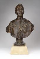 1A623 Mindszenty József bíboros bronz mellszobor 32 cm