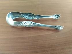 Antik ezüstözött cukorfogó csipesz