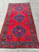 Kézi csomózású Iráni Hamadan szőnyeg. 200x110cm