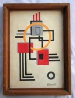 Kassák Lajos - Absztrakt kompozíció - A Képcsarnok Vállalat 9352. fiókja által értékesített festmény
