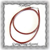 Valódi bőr nyaklánc 925-ös sterling ezüst kapoccsal SL-EB03-45 sötét barna