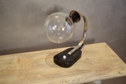 Art deco asztali lámpa márvány lappal