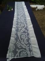 Rece csipke lepedő vég,  drapéria, ruha betét stb.  180 x 20 cm.