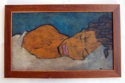 Diego Rivera jelzéssel a hátlapon - DR monogrammal a jobb alsó sarokban