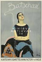 Holland cigaretta dohány reklámhirdetés hölgy portré füst 1925 Vintage/antik plakát reprint