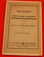 Lechners Kriegskarten III.-Übersichtskarte des österr.-ungar.-russischen Kriegsschauplatzes