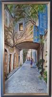 Szilárd Anikó : Utca részlet   30x60cm + keret