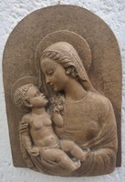 Gondos József terrakotta relief