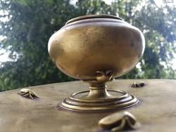 Antik Bécsi bronz, hihetetlen apró bogarak. Különleges alkotás, kalamáris tintatartó!