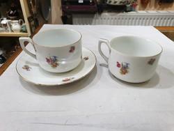 2db régi német teás csésze