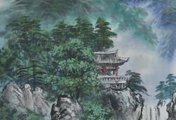 Ismeretlen művész, Koreai tájkép