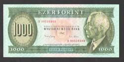 "1000 forint 1993.  ""D""!!  UNC!! RITKA!!"